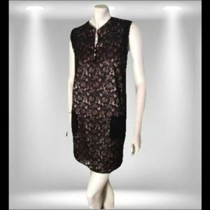 BCBGMaxAzria Sleeveless Lace Shift Dress XL